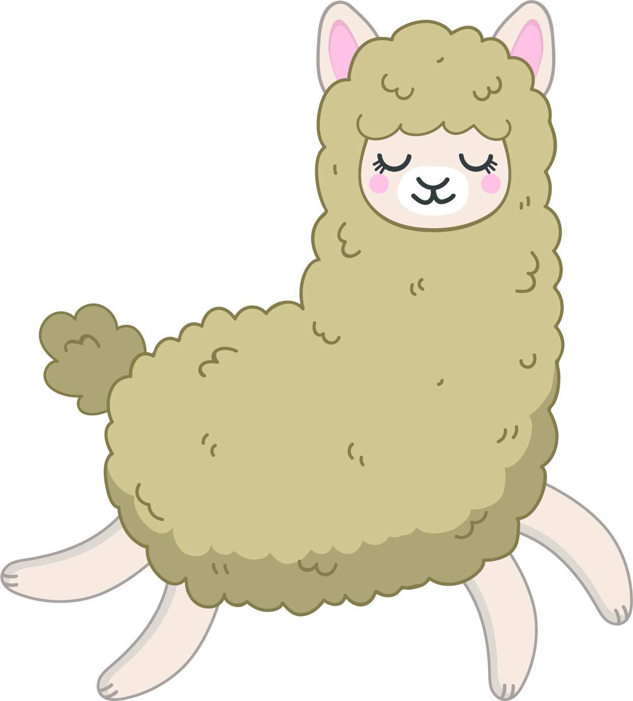 Amazon.com: Cute Happy Kawaii Neutral Llama Alpaca Cartoon.