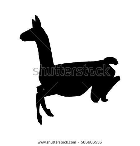 """""""llama Silhouette"""" Stock Images, Royalty."""