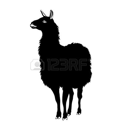 248 Lama Silhouette Stock Vector Illustration And Royalty Free.
