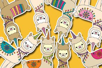 Llamacorn clip art / Llama unicorn clipart.