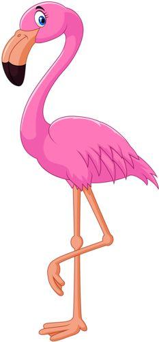 Elegant Pink Flamingo Clip Art ….