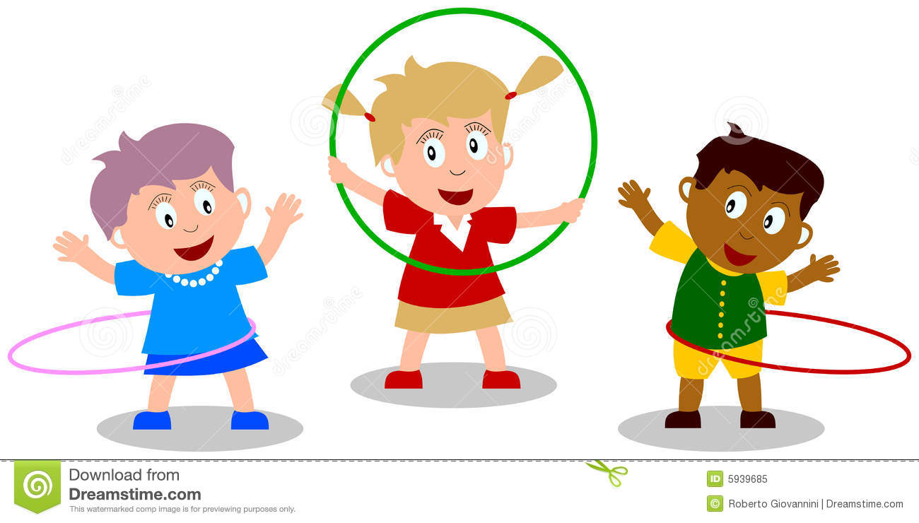 Playing Kindergarten Clipart.