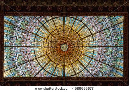 Palacio De La Musica Catalana Stock Images, Royalty.