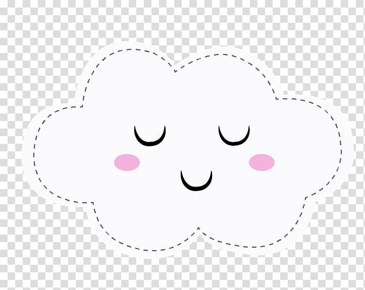 White cloud , Eye Cheek Smiley , Lluvia de amor transparent.