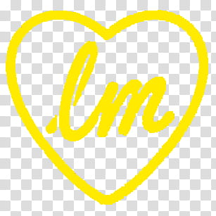 Logos Little Mix, yellow heart with lm text graphic.