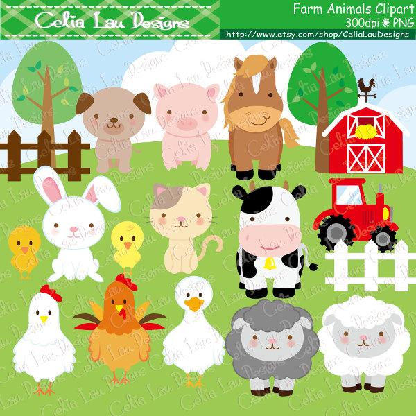 Farm animals Clipart cute farm animals clip art farm clipart.
