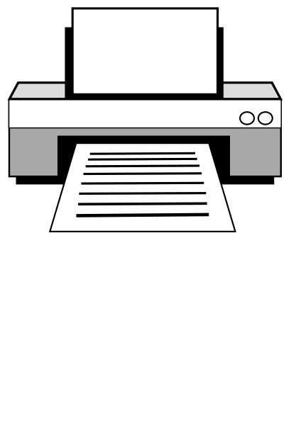 Printer large 900pixel clipart, Printer design.