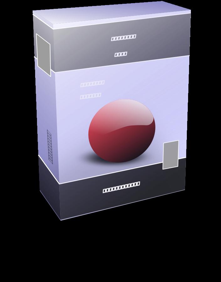 Software Box ln Clipart, vector clip art online, royalty free.