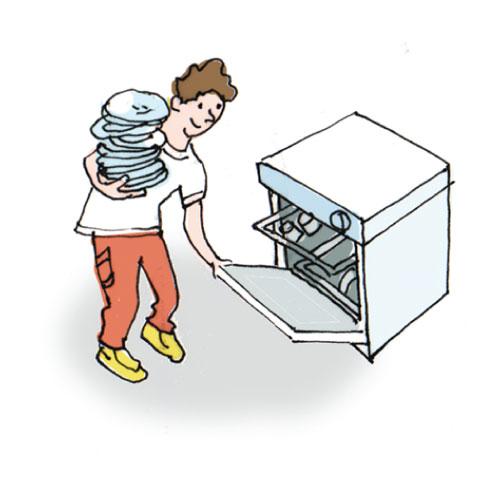Load dishwasher clipart.