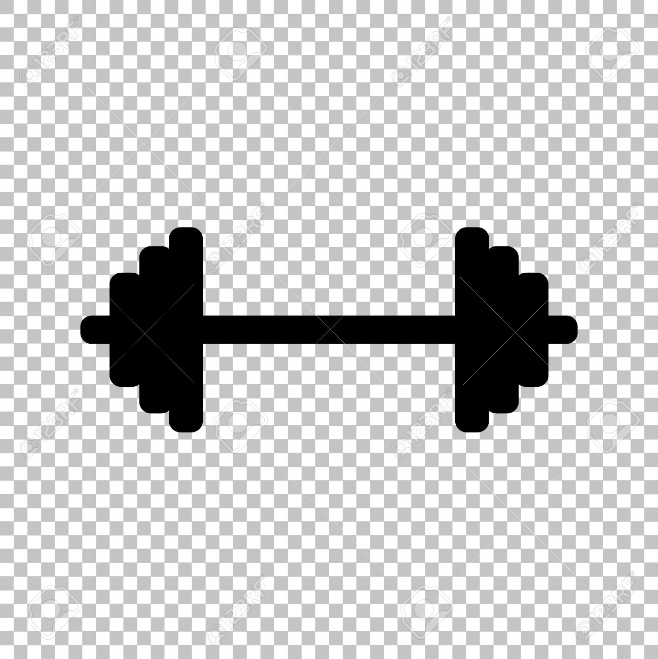 Barbell clipart no background.