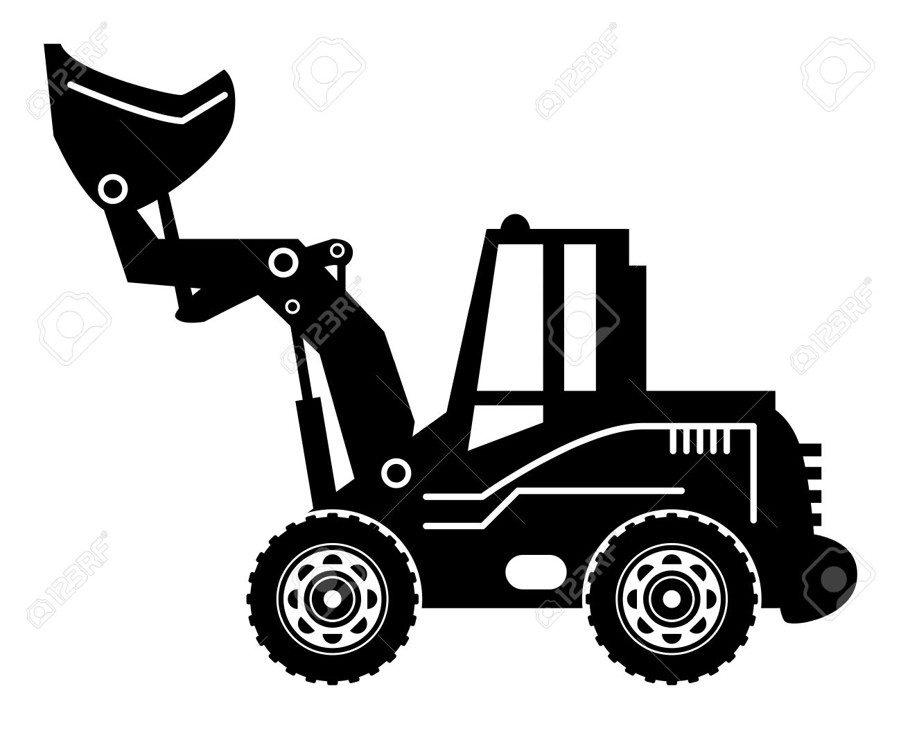 Wheel loader clipart.