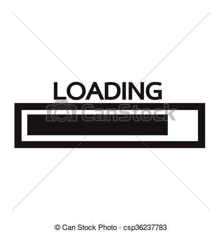 Loading Bar Icon Illustration Design.