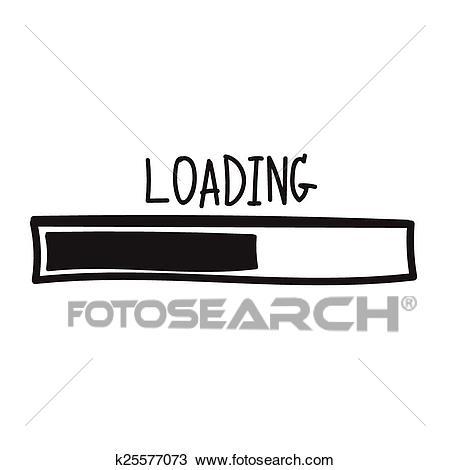 Loading. Progress bar design. Vector illustration Clipart.