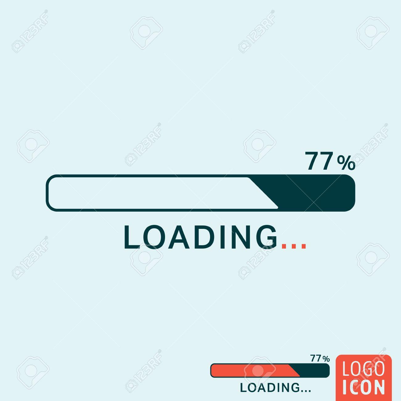 Loading icon. Loading logo. Loading symbol. Progress bar icon...
