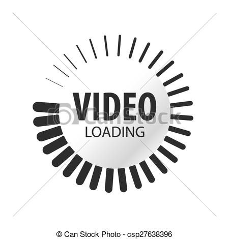EPS Vectors of abstract vector logo video loading.
