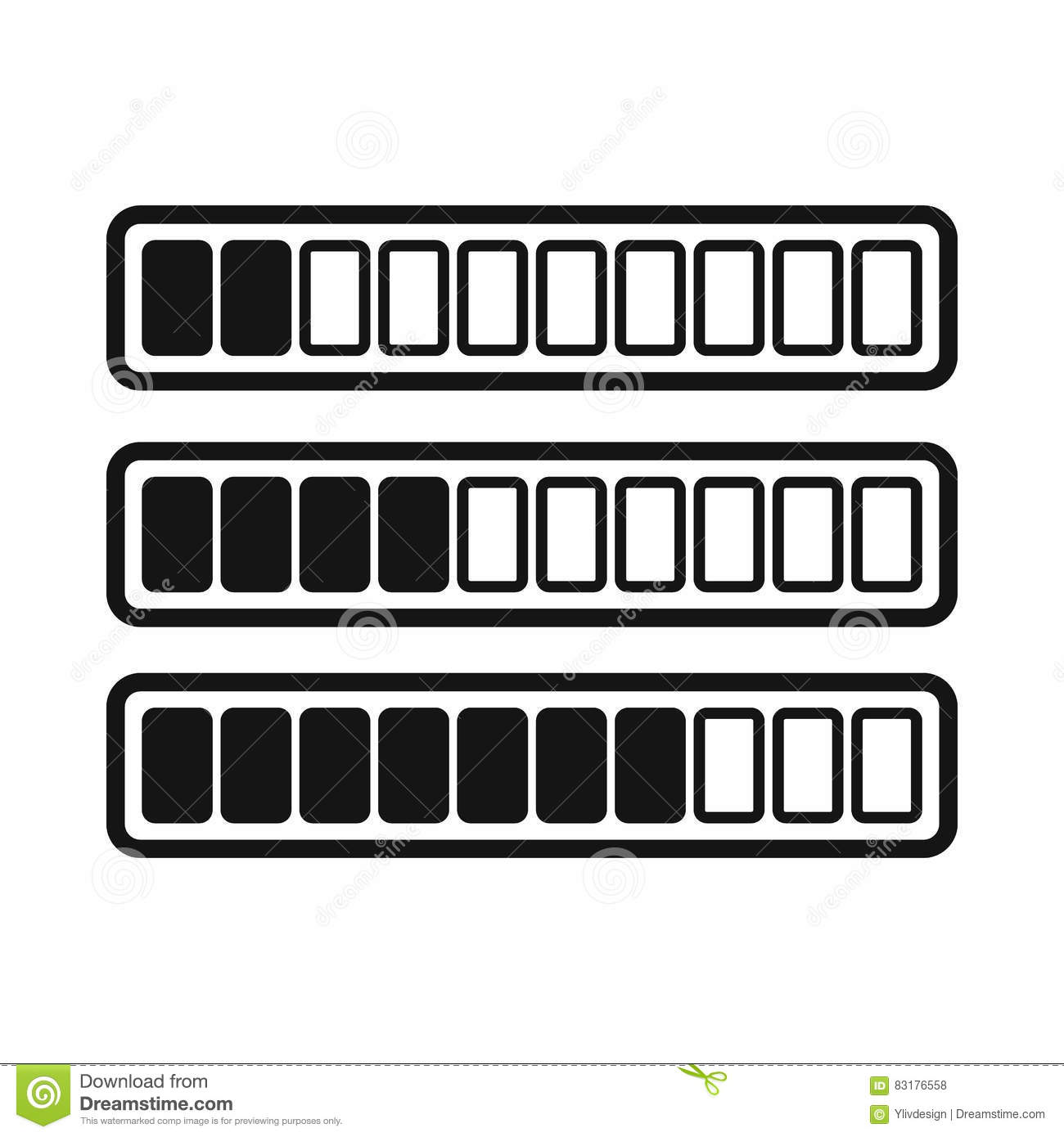 Sign Horizontal Columns Download Online Icon Stock Vector.
