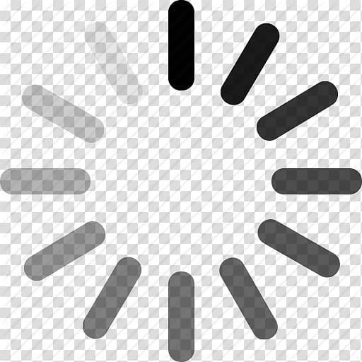 Black loading icon illustration, Computer Icons Desktop.