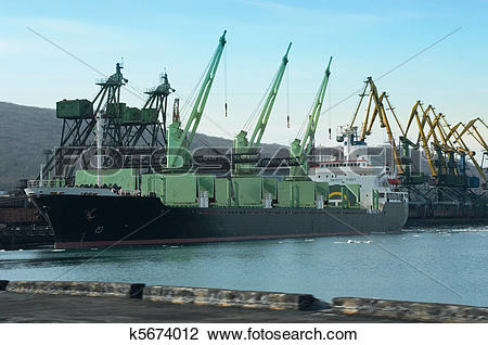 Stock Photo of Vessel Under Loading k5674012.