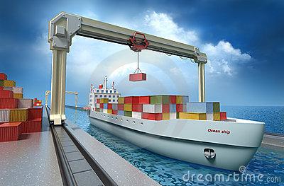 Crane Vessel Stock Illustrations.