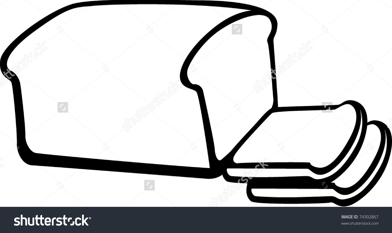 Clipart loaf of bread.