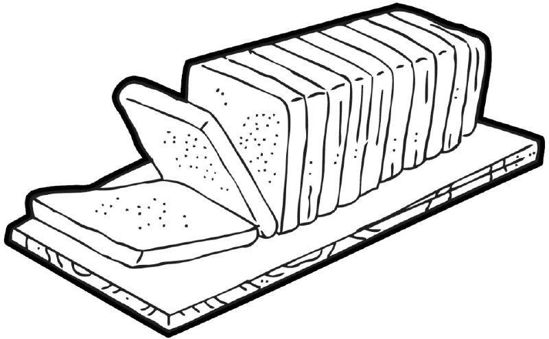Loaf of bread clipart black and white 6 » Clipart Station.