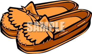 Royalty Free Clip Art Image: Moccasins.
