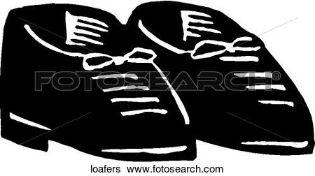 Clip Art of Loafers loafers.