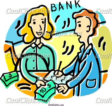 Bank loan clipart.