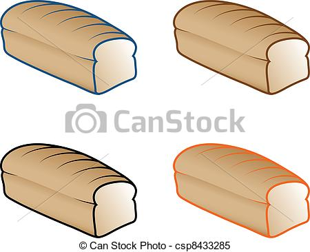 Clipart Vector of Bread Loaf Icons.
