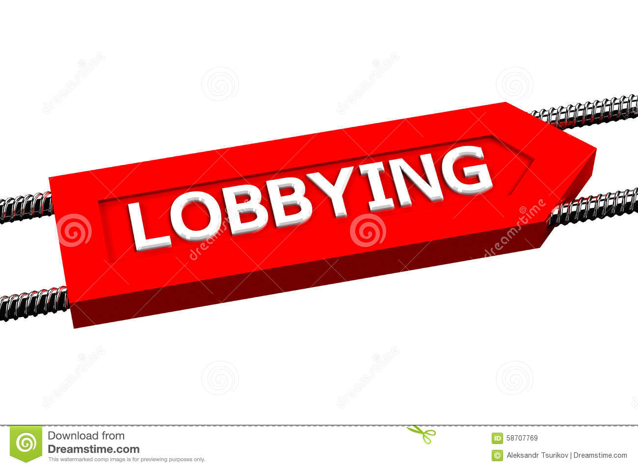 Word lobbying the arrow.