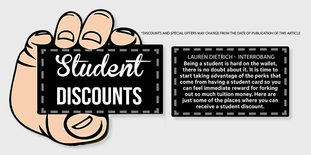 Student Discounts.