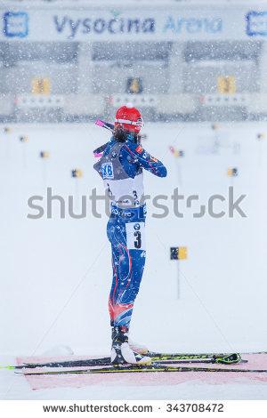 Biathlon Target Stock Photos, Royalty.