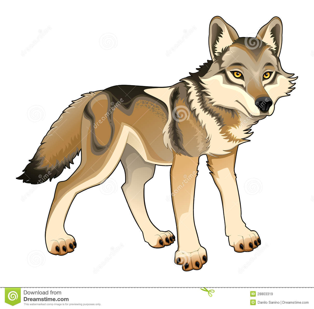 Lobo Animal Clipart.