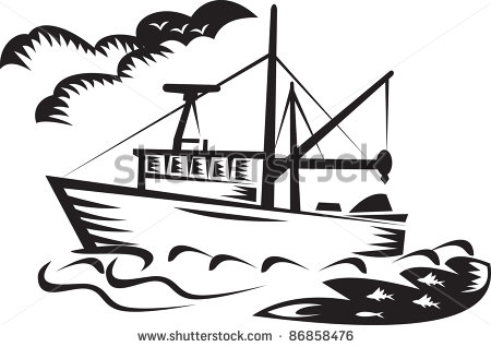 Commercial Fishing Boat Clipart.