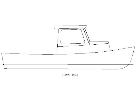 Pics For > Lobster Boat Drawing.