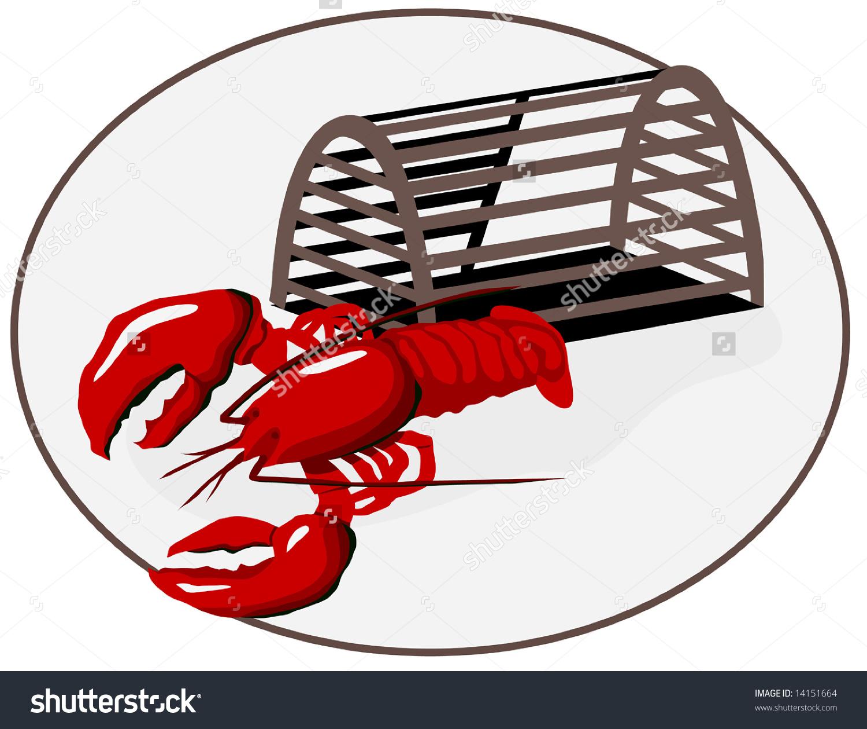 Lobster trap clip art.