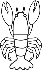 Lobster Clipart Black And White.