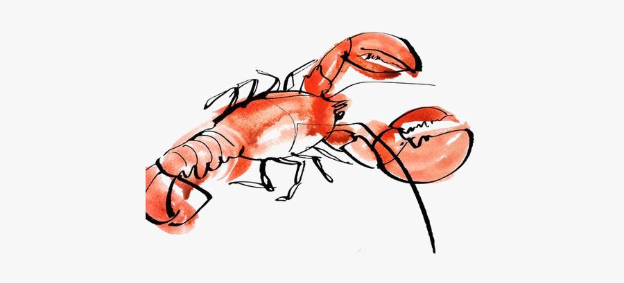Clip Art Lobster Illustration.