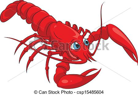 Vector Clipart of Lobster.