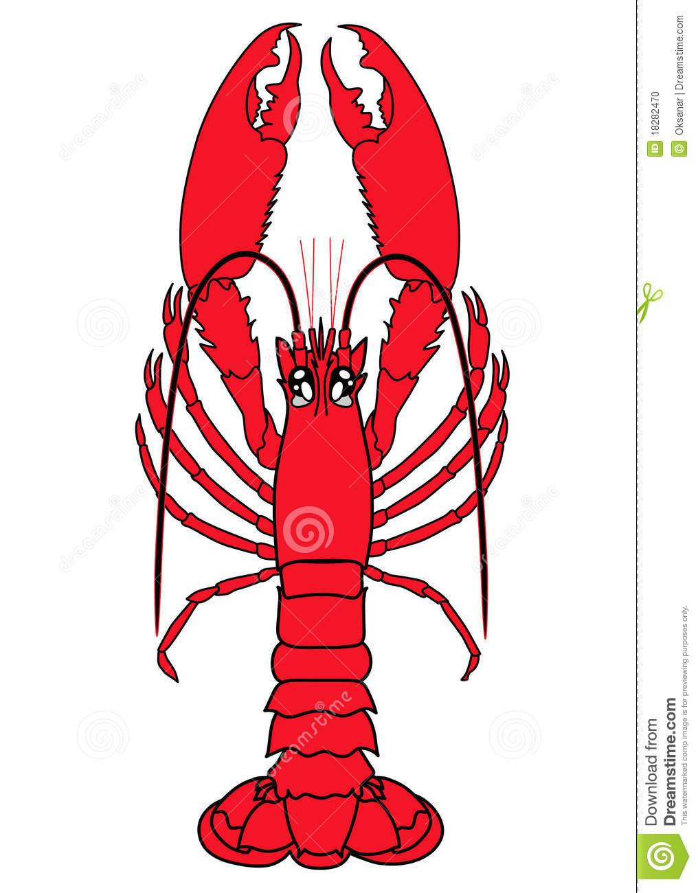 Lobster. Vector Clip.