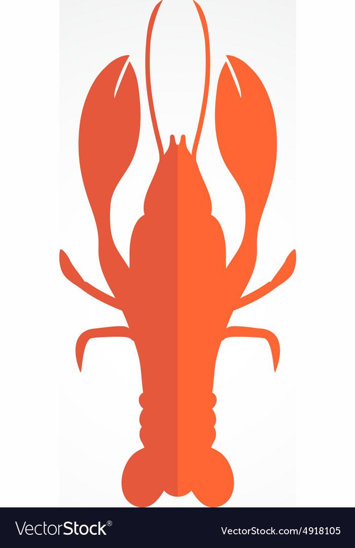 Lobster logo template design for seafood.