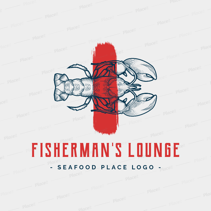 Logo Maker for a Seafood Restaurant with Lobster Graphics 1798d.