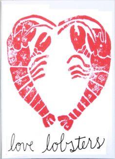 Loving Lobster Art Print.