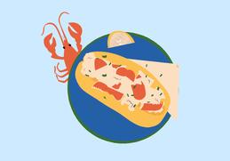 Download lobster roll clip art clipart Lobster roll Clip art.