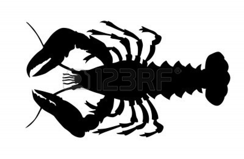 Download Free png Lobster silhouette clipart.