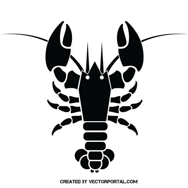LOBSTER SILHOUETTE.