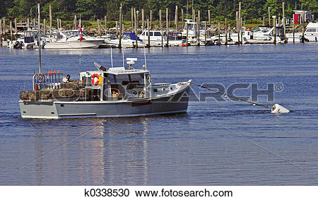 Stock Photography of Lobster boat k0338530.