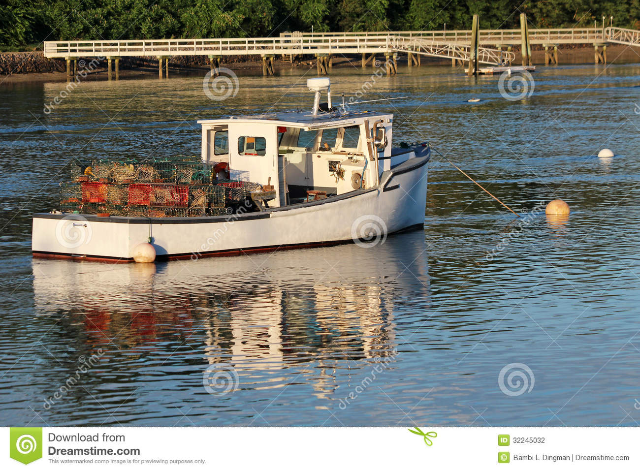 Lobster Boat Stock Photography.