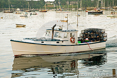 Lobster Boat Stock Images.