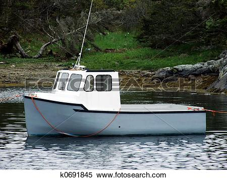 Stock Image of small lobster boat k0691845.